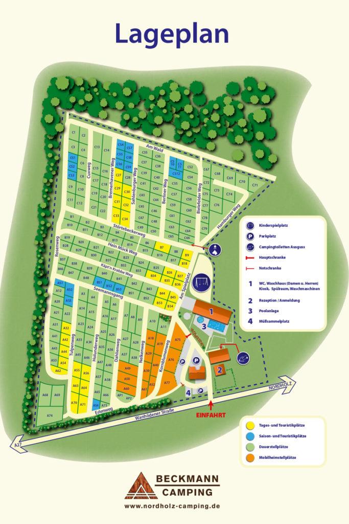 Lageplan Campingplatz